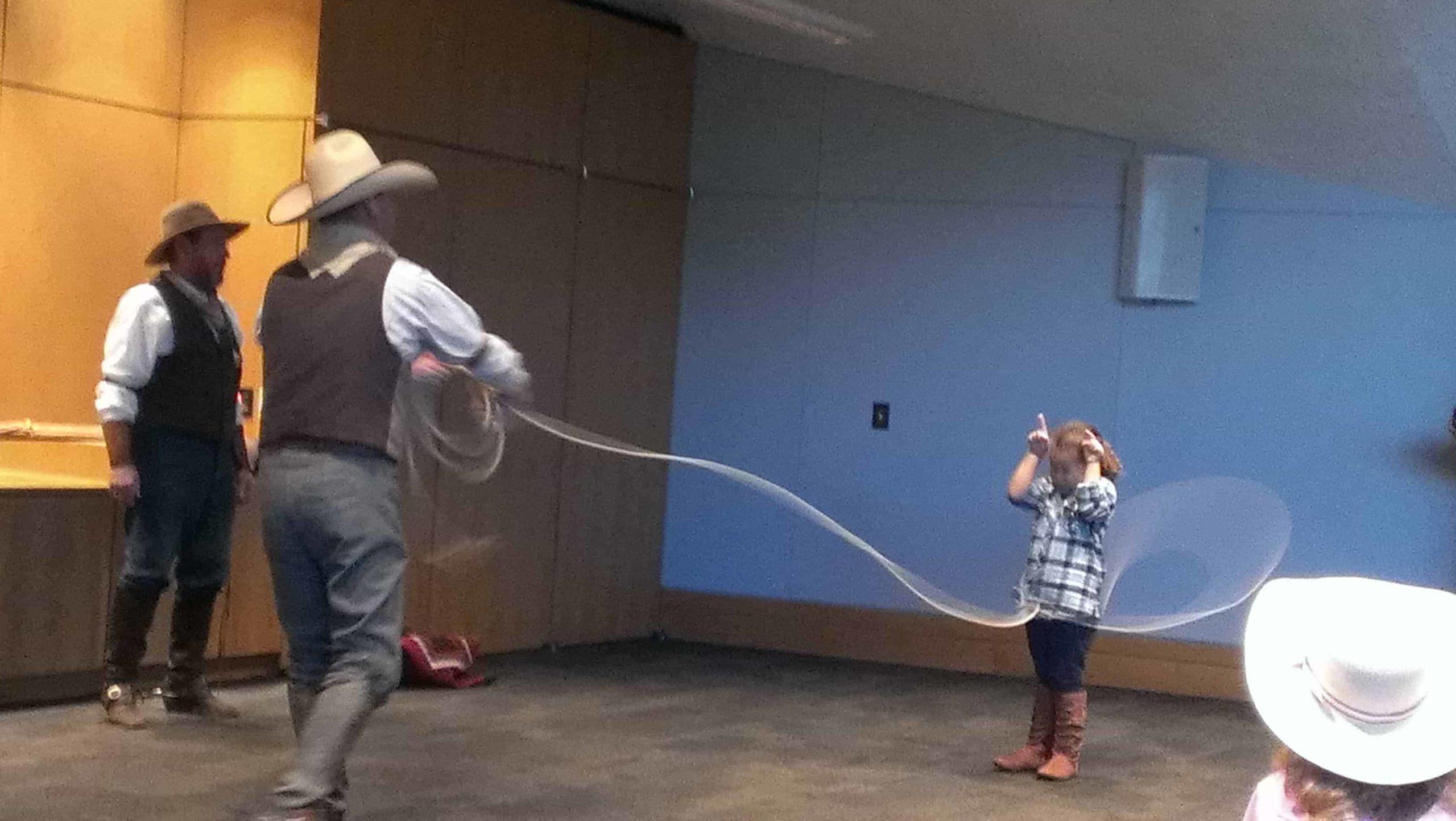 Charlie trick roping.