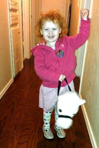 Joanna riding her pony